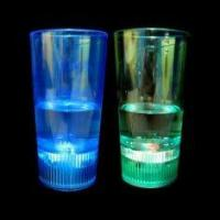 Buy cheap Cool coloured LED liquid activated flashing shot glass with 3 AG13 Batteries for Party from wholesalers