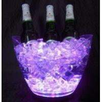 Buy cheap Customized design Waterproof flashing rechargeable Led Ice bucket with logo for bar from wholesalers