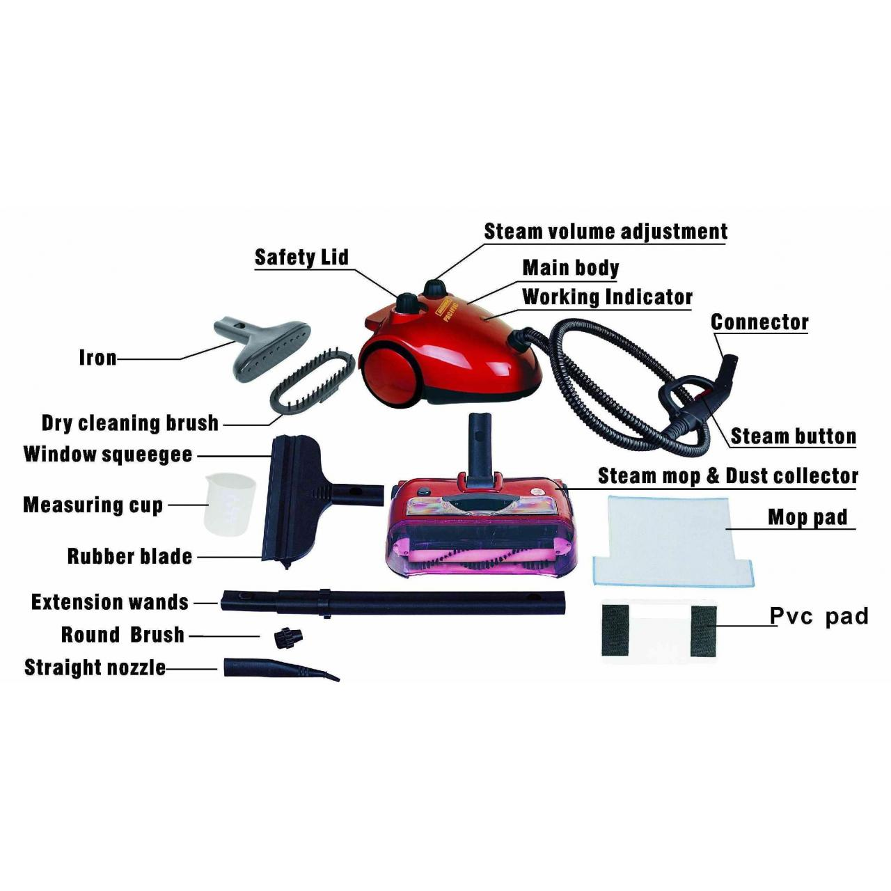 Buy cheap Steam cleaner with floor mop and sweeper (3 in 1) from wholesalers