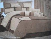 Buy cheap Twin Size Quality Micro Suede Comforter Set Bedding-in-a-bag, Brown-Tan / Beige from wholesalers