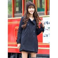 Buy cheap Coat B9503 Black Double Breasted Coat (Only S Size) from wholesalers