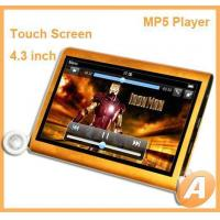 Buy cheap 4.3 inch Touch Screen MP5 Player with TV OUT from wholesalers