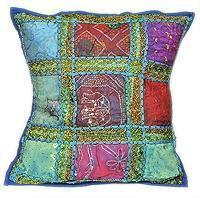 Buy cheap Patchwork Beaded Indian Accent Throw Pillow Cushion Cover product