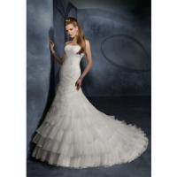 Buy cheap Wedding Dress Beading Tiered bride from wholesalers