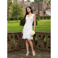 Buy cheap New Graceful Layered White Mini Bridal Gown Bride from wholesalers