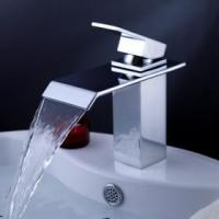 Buy cheap Contemporary Waterfall Bathroom Sink Faucet with Pop up Waste from wholesalers