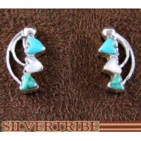 Buy cheap Turquoise And Mother Of Pearl Inlay Authentic Sterling Silver Heart Earrings DS52961 from wholesalers