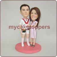 Buy cheap custom wedding cake topper from wholesalers