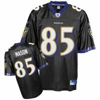 Buy cheap Reebok Baltimore Ravens #85 Derrick Mason Black Alternate Replica NFL Jersey from wholesalers