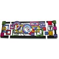 A Spectacle of Color and Dimension Large 3-Piece Wall Art