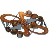 Caramel Crush Wooden Wall Sculpture with Mirrors