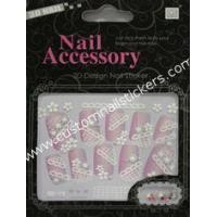 Buy cheap Professional finger nail styles Eco - friendly ink and glue rhinestone nail stickers from wholesalers