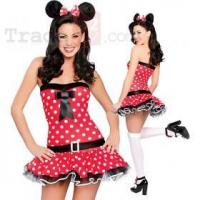 Buy cheap New Sexy Playful Mouse Costume Dress Dot Belt Ears Lingerie from wholesalers