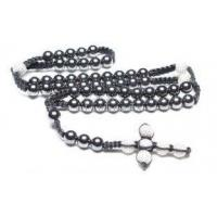 Buy cheap 10mm Strand Handcrafted Beaded Necklaces, Magnetic Hematite Crystal Pave Alloy Beads from wholesalers