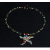 Buy cheap Elegant Peridot Glass Starfish Necklace from wholesalers
