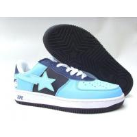 Buy cheap Bape New and Better shoes light blue / black from wholesalers