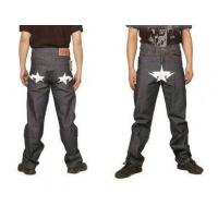Buy cheap Bape A Bathing Ape White star Grey Mens Jeans from wholesalers