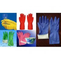 Buy cheap spray flocklined household gloves from wholesalers