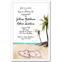 Beach Orchid LeisParty Invitation