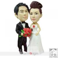 Buy cheap Custom Wedding Cake Topper - Proposing To Bride CWCT0048 from wholesalers