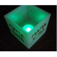 Buy cheap Cheap personalized engraved colored mini small acrylic led flash ice bucket for bar from wholesalers