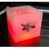 Buy cheap Custom cheap insulated engraved large clear beer led ice bucket for bars and restaurants from wholesalers