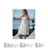Buy cheap Fashion Strapless with A-Line Mini Skirt Summer Wedding Dress from wholesalers