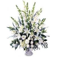 Buy cheap All White Flowers Basket from wholesalers