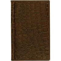 Genuine alligator leather card holder CM01 Brown