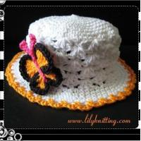 Buy cheap PATTERN  Crochet Sunny Hat with a Butterfly from wholesalers