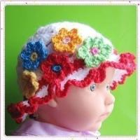Buy cheap PATTERN  Crochet Sunny Hat with 5 flowers from wholesalers