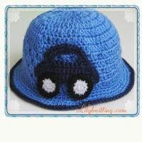 Buy cheap PATTERN  Crochet Sunny Hat with a car applique from wholesalers