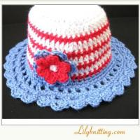 Buy cheap PATTERN  Crochet Sunny Hat with StripsCloche 4 from wholesalers