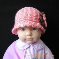 Buy cheap PATTERN  Crocheted Beanie Hat with a large flowerFlapper Beanie 75 from wholesalers