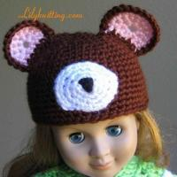 Buy cheap PATTERN  Crocheted Bear Beanie for American Girl Doll from wholesalers