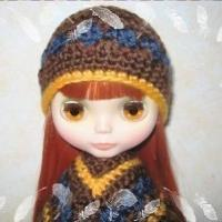 Buy cheap PATTERN  Crocheted beautiful Doll Beanie for Blythe doll from wholesalers