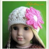 Buy cheap PATTERN  Crocheted beautiful Doll Beanie for American Girl doll from wholesalers