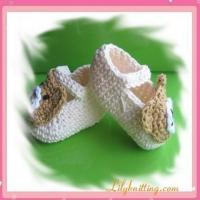 Buy cheap PATTERN  Crocheted Baby Bear BootiesBaby Bear Booties from wholesalers