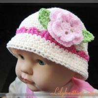 Buy cheap PATTERN  Crochet Sunny Hat with a large rose flower from wholesalers