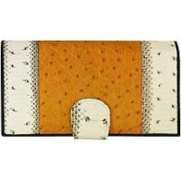 Buy cheap Genuine snake and ostrich leather wallet PATW130PIN-OS Natural / Tan from wholesalers