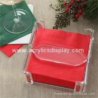 Buy cheap acrylic napkin holder from wholesalers