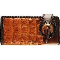 Buy cheap Genuine alligator, ostrich claw and cow leather wallet AL099OS Brown / Tan from wholesalers
