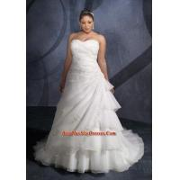 Buy cheap Modest A-line sweetheart embroidery chapel lace up plus size wedding dress z72701 from wholesalers
