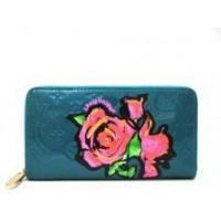 Buy cheap Louis Vuitton Monogram Roses Vernis Zippy Wallet Blue from wholesalers