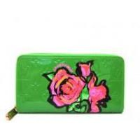 Buy cheap Louis Vuitton Monogram Rose Vernis Zippy Wallet Green from wholesalers