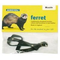 Buy cheap Ancol Pet Products Ltd - Just 4 Pets Leather Ferret Muzzle Black from wholesalers