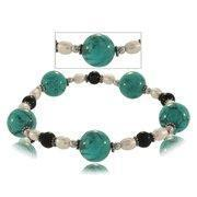 Buy cheap Turquoise Pearl Sterling Silver Elastic Nylon Bracelet from wholesalers