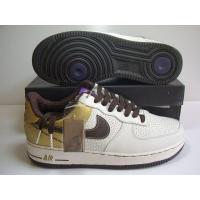 Buy cheap Women Nike Air Force 1 25th White Gold Black Shoes from wholesalers