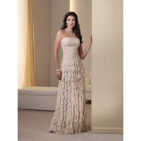 Buy cheap Attractive Column Strapless Chiffon Mother of the Bride Dress from wholesalers