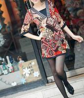 Buy cheap Ethnic Fashion Printing smoothness Belt Dress F7152 from wholesalers